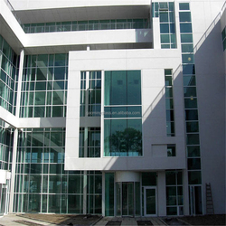 invisible aluminum curtain wall profile/glass wall decorative panels/glass double wall