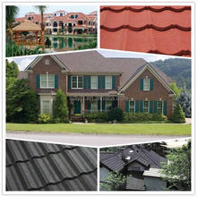 High Quality recycled steel roofing tiles ,building material colorful stone coated metal roof tile