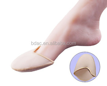 fabric forefoot cap ball of foot pads dance shoe ballet toe protector bunion guard pad gel toe cover