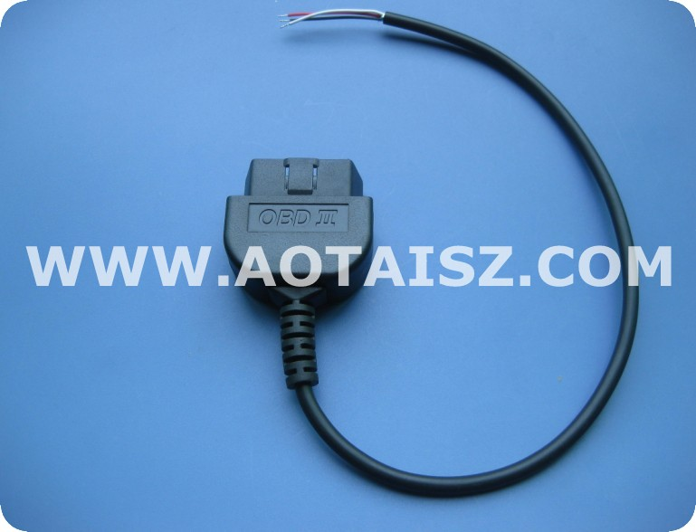 J1962 case paypal obd male open cable made in china