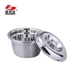 Wholesale kitchen accessories 201 stainless steel serving finger bowl with lid 26-38CM