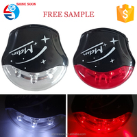3 Red LED Bicycle Front and Rear Light