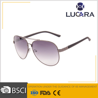 Cheap aviator unisex fda hot sale frame fashion sunglasses with printing lens