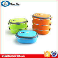 Stainless steel thermal insulated lunchboxes square shape lunch box