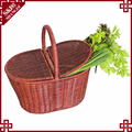 2017 new style convenient natural material 2 person picnic hamper basket customized color picnic basket 4 person for camping