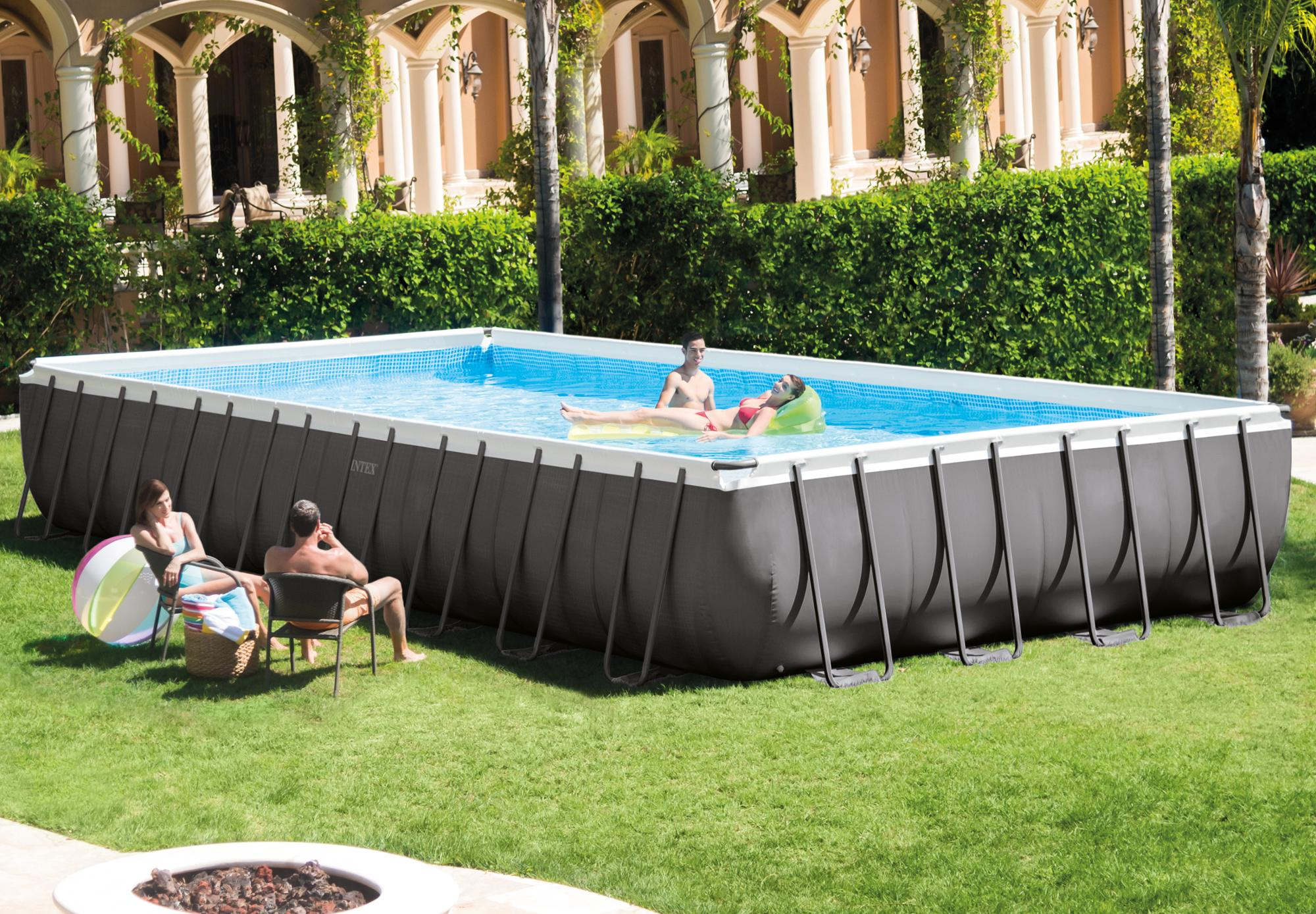 INTEX 28110 8FT X 30IN Inflatable Above Ground Easy Set Family Swimming Pool