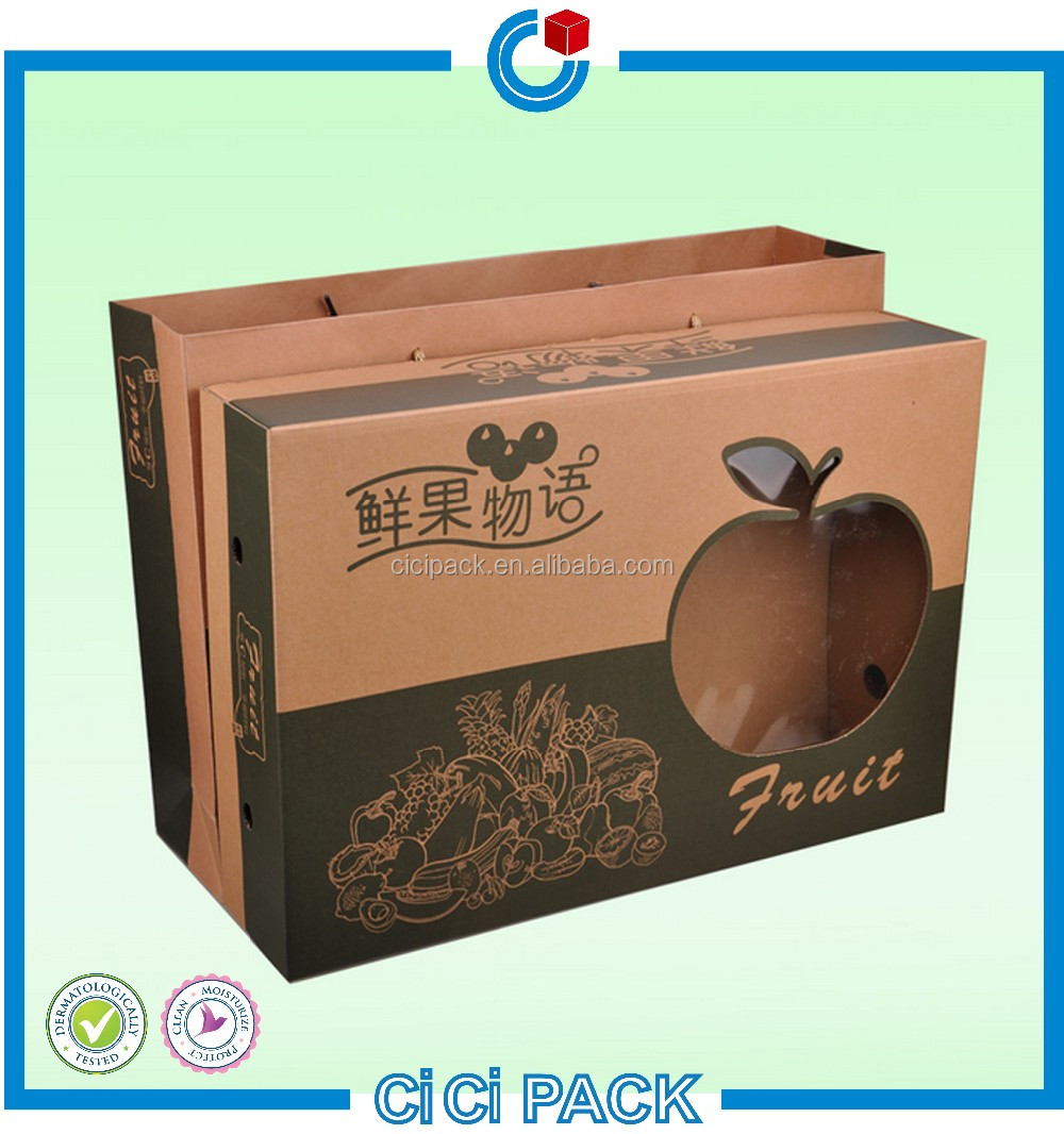 Fresh apple fruit packaging boxes wholesale Corrugated paper packaging box for fruit