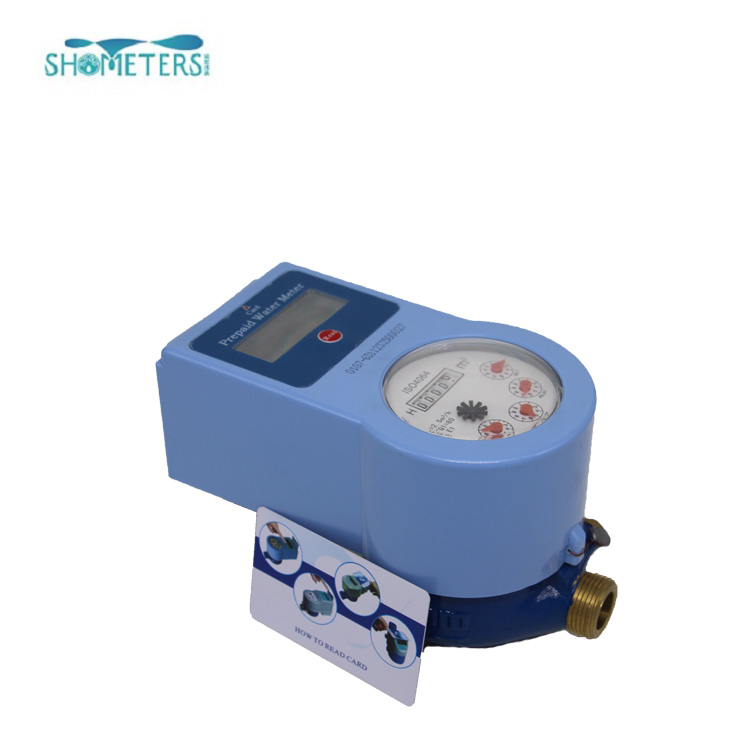 Radio Frequency Remote Control Smart Digital Prepaid Water Meter IC Card system