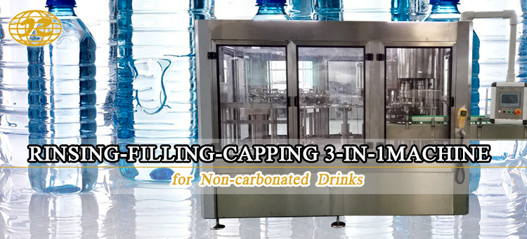 Automatic drinking mineral pure water bottle 3 in 1 washing filling capping and sealing machine price