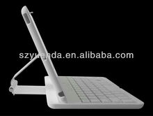 360 degree ABS case bluetooth keyboard for NEW iPad min with aluminum stand