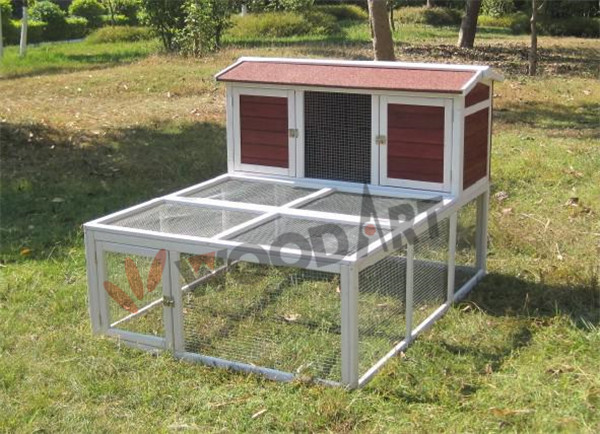 Large wooden waterproof two storey rabbit cage