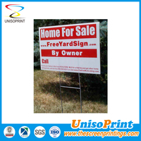 Printed corrugated plastic sign for yard decoration