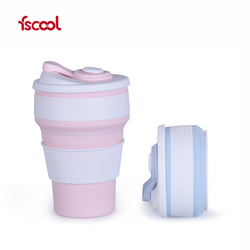 Fscool Portable Mini Travel Silicone Drinking Cup Retractable Folding Collapsible Cup