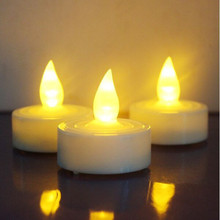 Mini Battery Operated Flameless Electronic Flickering Light LED Christmas Candle LED Tea Light
