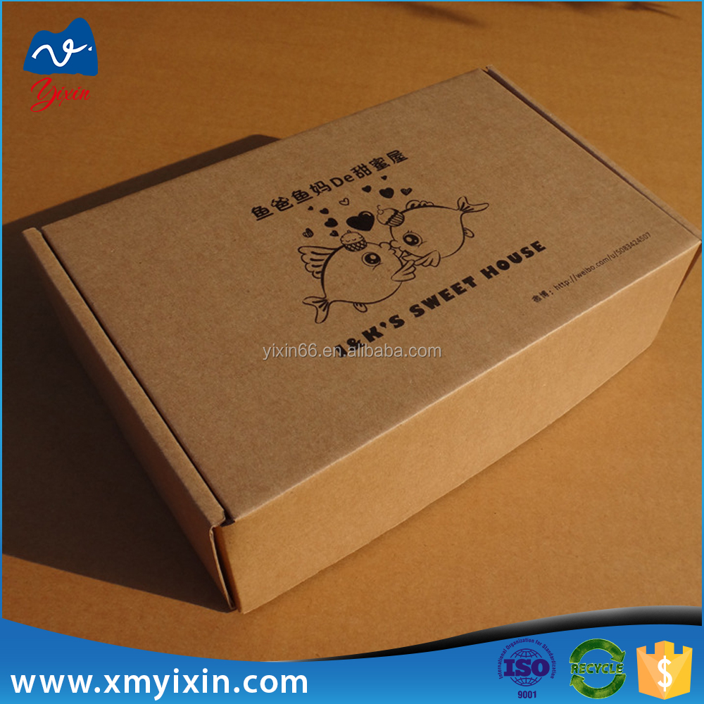 Hot sale paper shoe corrugated packaging box
