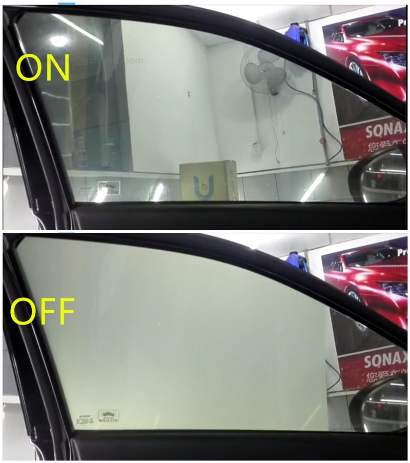 dimmable black color PDLC electrochromic car window smart tint film price