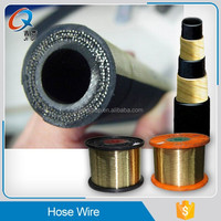 Steel wire for rubber tube, brass coated steel wire for hose wire