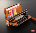 High quality genuine leather men wallet with card slots in shenzhen