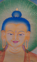 buddha face, tibetan thangka painting