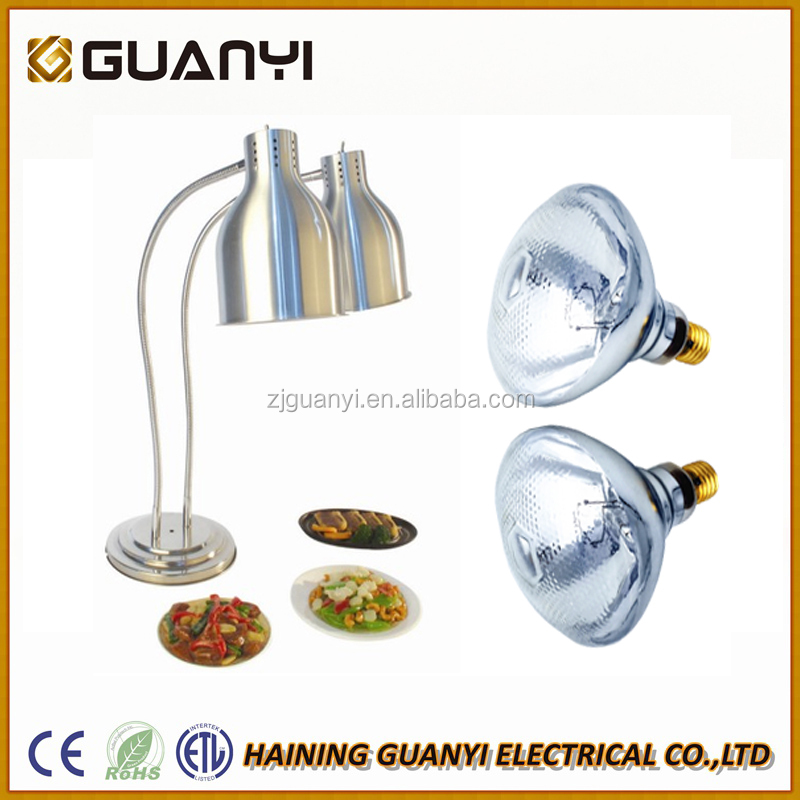 CE RoHS ETL Certified Infrared Food Heat Lamp for restaurant