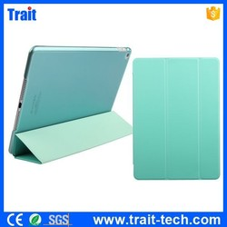 Tri-fold Single Front Smart Wake Sleep Leather Cover + Back PC Shell for iPad Air 2