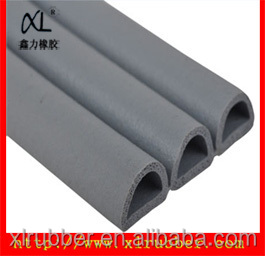 EPDM foam garage door bottom seal for rubber strip door seal/Factory in Guangzhou