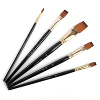 Amazon Hot Sale 5 Pieces Artist Paintbrush Set Art Painting Oil Brush Fine Art Painting Supplies Paint Brushes Set