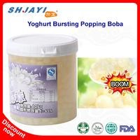 2018 New Product Bubble Tea Recipe Flavors Yoghurt Popping Juice Bursting Boba Tapioca Ball Manufacturers