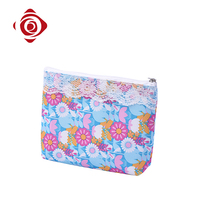 Cheap personalized printed toiletry organizer cosmetic travel bag