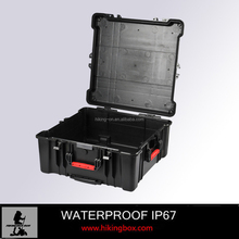 OEM Manufacture hard shell plastic equipment case / IP67 large Plastic storage case with wheels&handle HTC027
