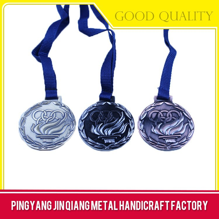 OEM service supply type metal medal with ribbon
