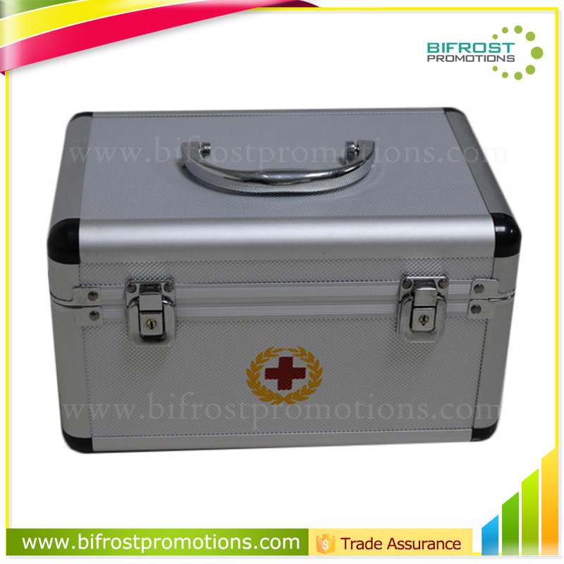Heavy Duty Portable Emergency Medical Aluminum First Aid Kit Box