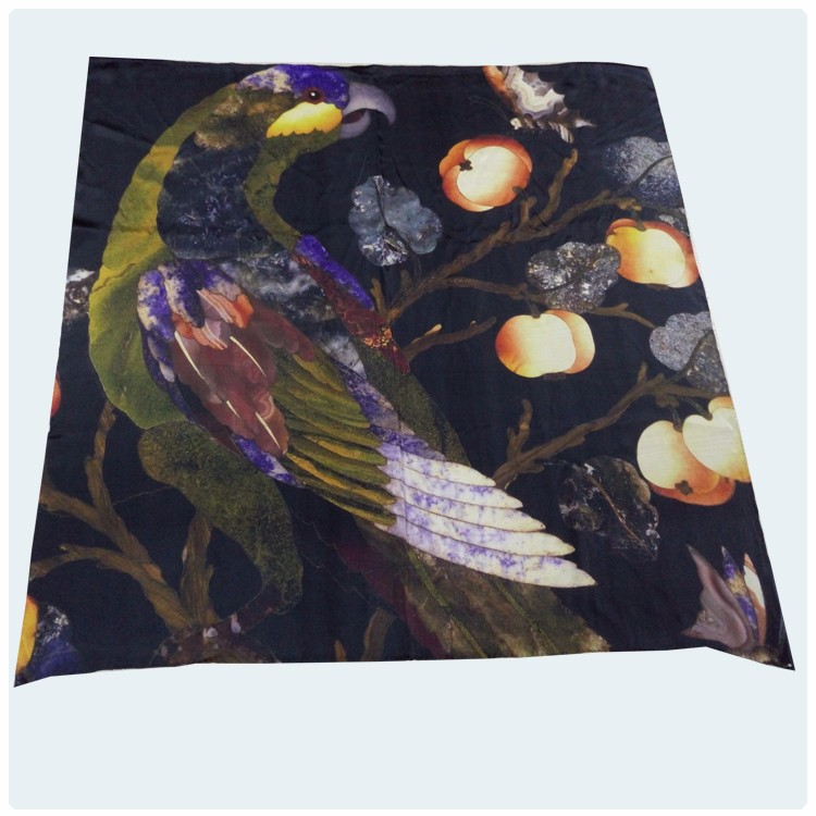 Pumpkin Design Digital Printed Pure Silk Scarves
