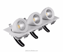90Ra 360deg tilt rotation gyro cob led downlight 2000k-2800k dim to warm directly installation in insulation
