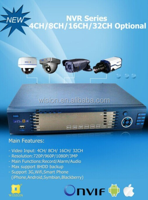 Cheap Mini 4ch NVR kits,PoE network NVR kits,easy to install and operate