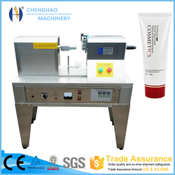 CH-125 Manual Ultrasonic Plastic Tube Sealing Machine for Cosmetic, with Data and Batch Embossing Function