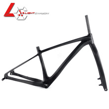 LightCarbon 27.5er mtb carbon frame 650b TA148*12 Boost Plus Frame+Fork+Clamp BB92 Hardtail Bicycle Frameset LCM705
