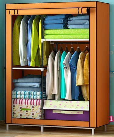 factroy direct sell cheap clothes wardrobe non-woven fabric bedroom wardrobe