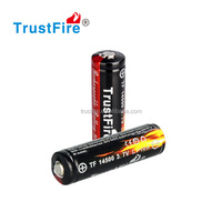 Li-ion AA batteries rechargeable trustfire colorful 3.7voltage lithium ion battery 900MaH rechargeable 14500 li battery CE&PSE