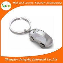 Promotional gifts silver plating blank 3D design germany car key chain