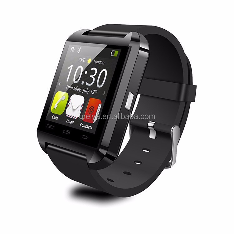 Wholesale cheapest U8 bluetooth phone call smart watch, 2018 Touch screen cheap smart watch mobile phone