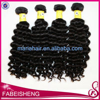 deep wave curly remi 100% european human hair extensions