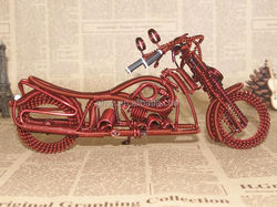 Guohao Custom hot sale kids birthday collecting gift , iron wire motorcycle