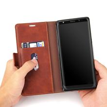 Classic retro shockproof protective cell luxury phone case, magnetic leather tpu wallet phone case cover for samsung Note 8 case