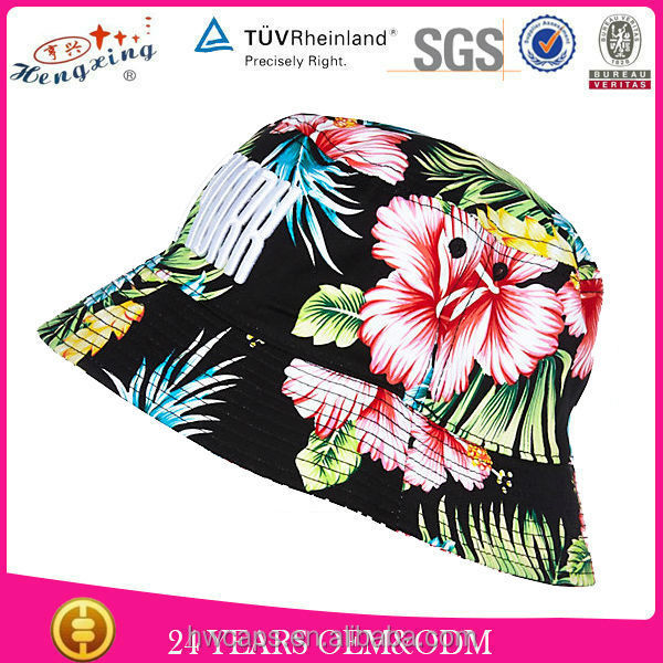 New Style Floral 100% Cotton Aztec Cool Custom All Over Print Bucket Hat Pattern