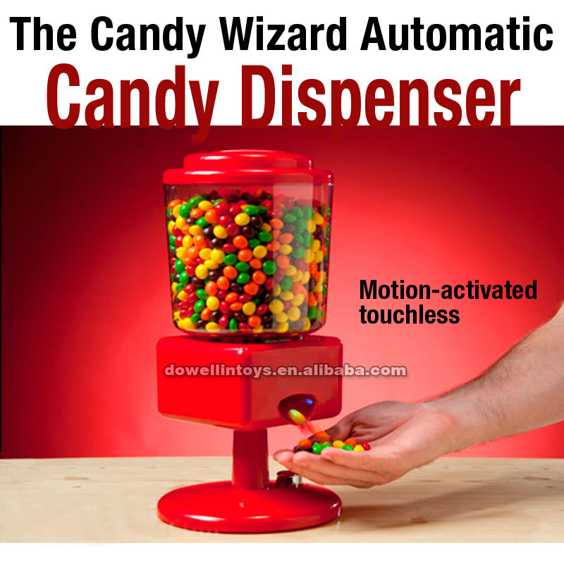 HOT Sale Promotion The Wizard Motion-activated touchless Candy Dispenser Candy machine toy