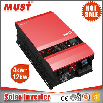 pure sine wave single phase off grid 12kw solar pump inverter with 120A MPPT controller