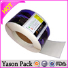Yason transparent pet sticker/label glass etching stickers customized stickers in many materials(aluminum foil pet pvc paper)
