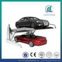 Tilting 2 floor hydraulic vertical parking system with CE