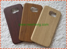 Ultra thin soft tpu wood pattern pu leather back cover phone case for samsung galaxy s6 edge